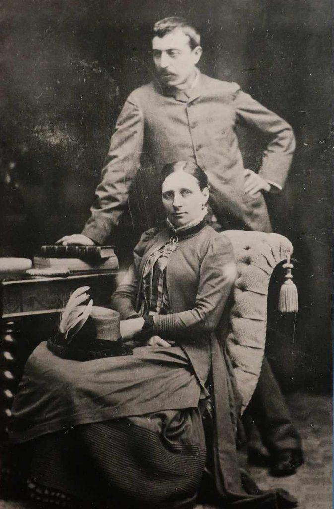 Gauguin z żoną - zdjęcie -1885-