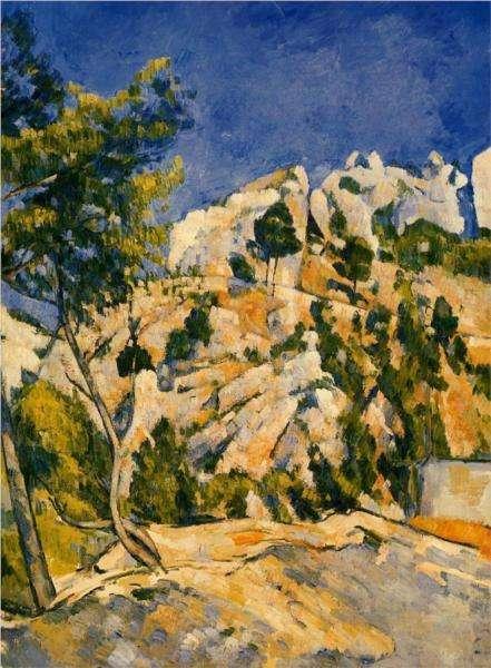 W głębi wąwozu - obraz Cezanne'a