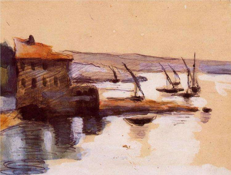 Obraz Cezanne'a - Pejzaż morski
