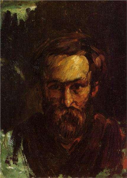 Portret mężczyzny -obraz - Cezanne