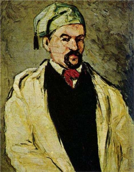 Mężczyzna w niebieskiej czapce lub Wujek Dominique - obraz Cezanne'a