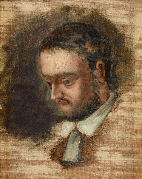 Portret Emila Zoli - obraz Cezanne'a