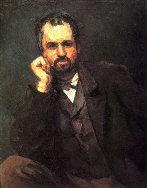 Portret mężczyzny - Cezanne