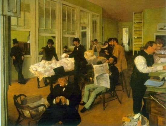 Kantor bawełny w Nowym Orleanie - obraz Degasa
