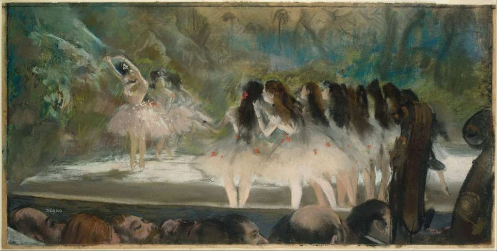 Balet w paryskiej operze - pastel Degasa