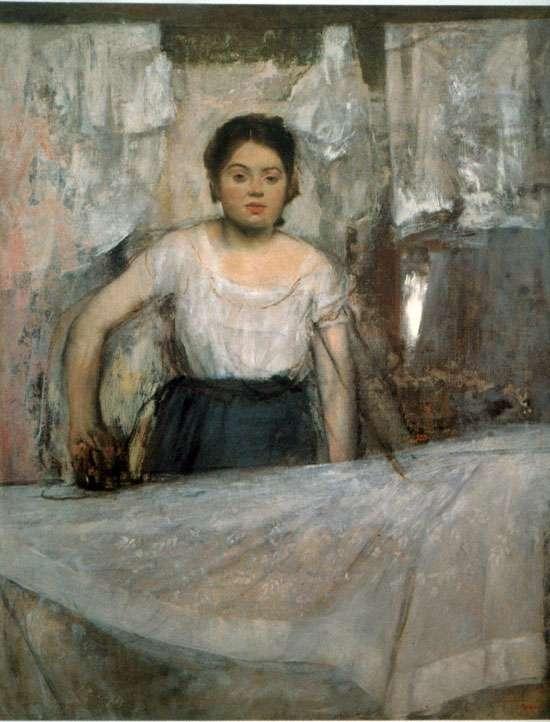 Kobieta prasująca - Degas