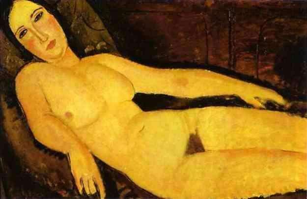 Akt na kanapie - Modigliani